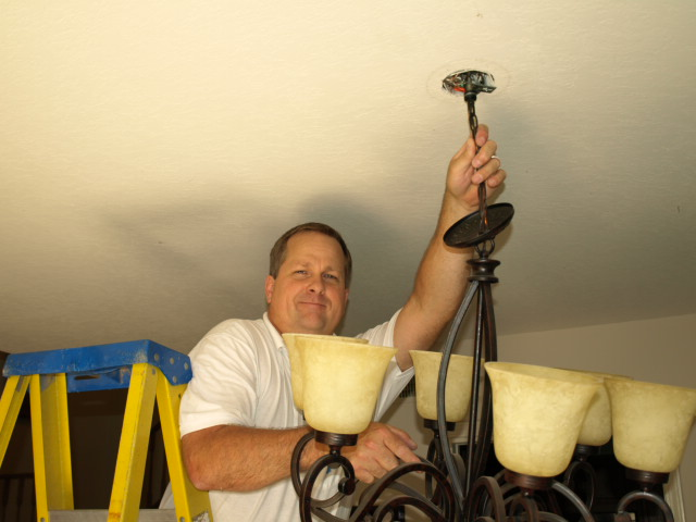 priority electric eletrical contractor hanging chandalier