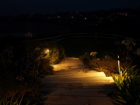 Simi Valley Landscape Lighting Steps
