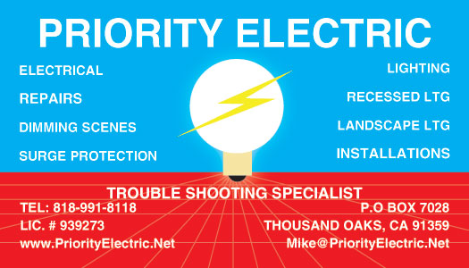 Simi Valley Electrical Contractor Business Card